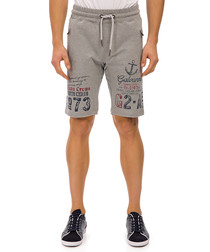Oka grey graphic print shorts