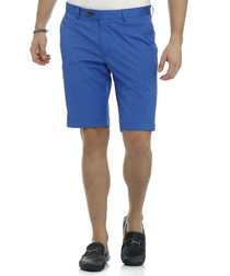 Moose blue cotton blend shorts