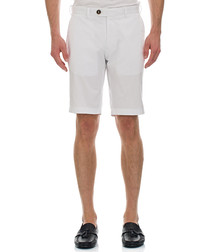 Moose white cotton blend shorts