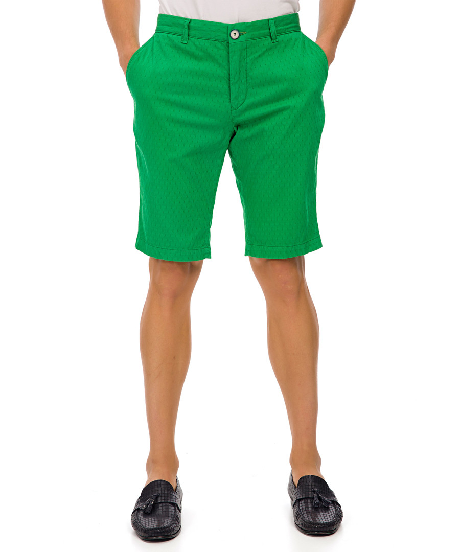 Ringsted green cotton blend shorts Sale - galvanni