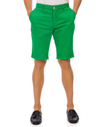 Ringsted green cotton blend shorts