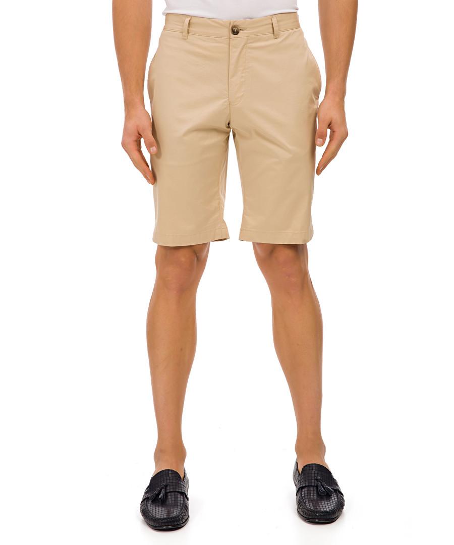 Kobing beige cotton blend shorts Sale - galvanni
