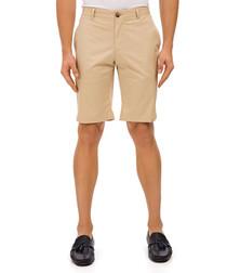 Kobing beige cotton blend shorts