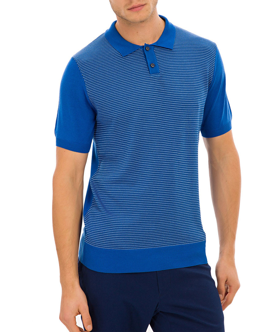 Gloucester blue knit polo T-shirt Sale - galvanni