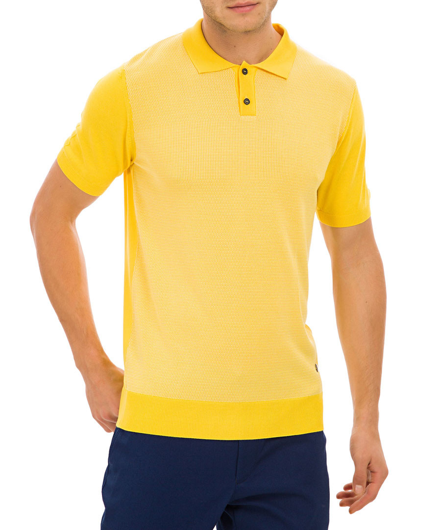 Gloucester yellow knit polo T-shirt Sale - galvanni