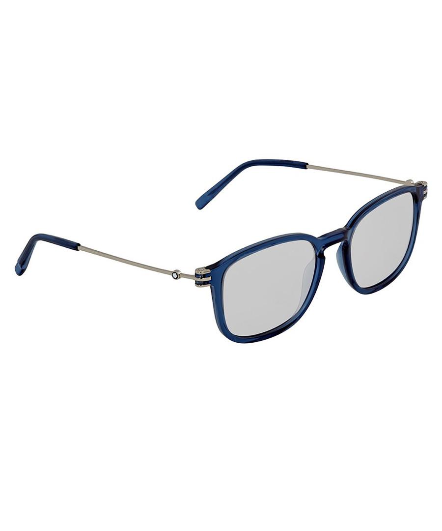Blue & silver-tone metal sunglasses Sale - montblanc