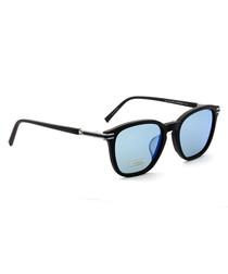 Blue & black metal frame sunglasses