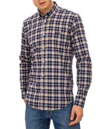 Hannsell multi-colour check shirt