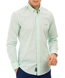 Wells mint pure cotton button-up shirt