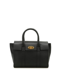 Small Bayswater black leather tote