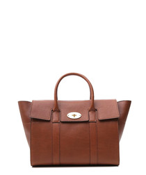 Bayswater oak grained leather tote