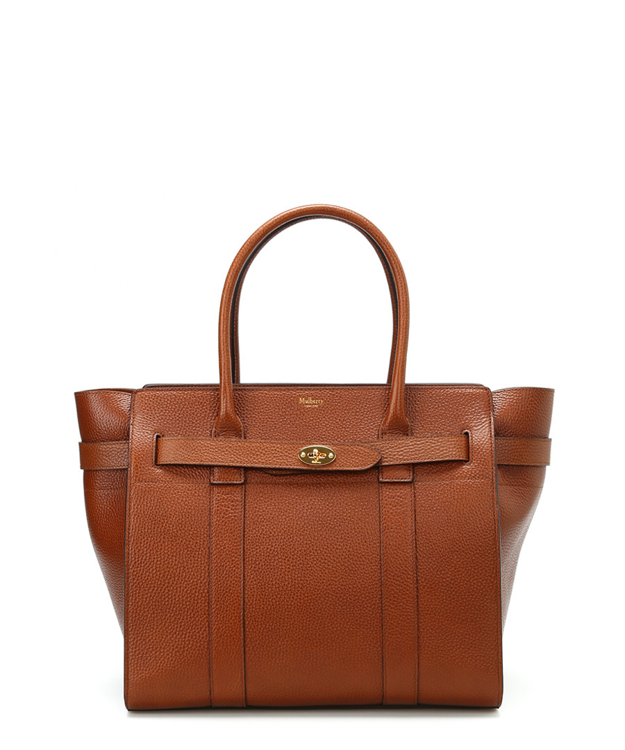 Zipped Bayswater oak leather tote Sale - MULBERRY