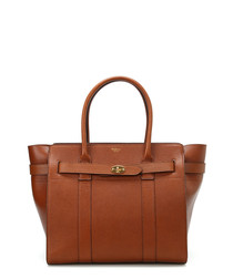 Zipped Bayswater oak leather tote