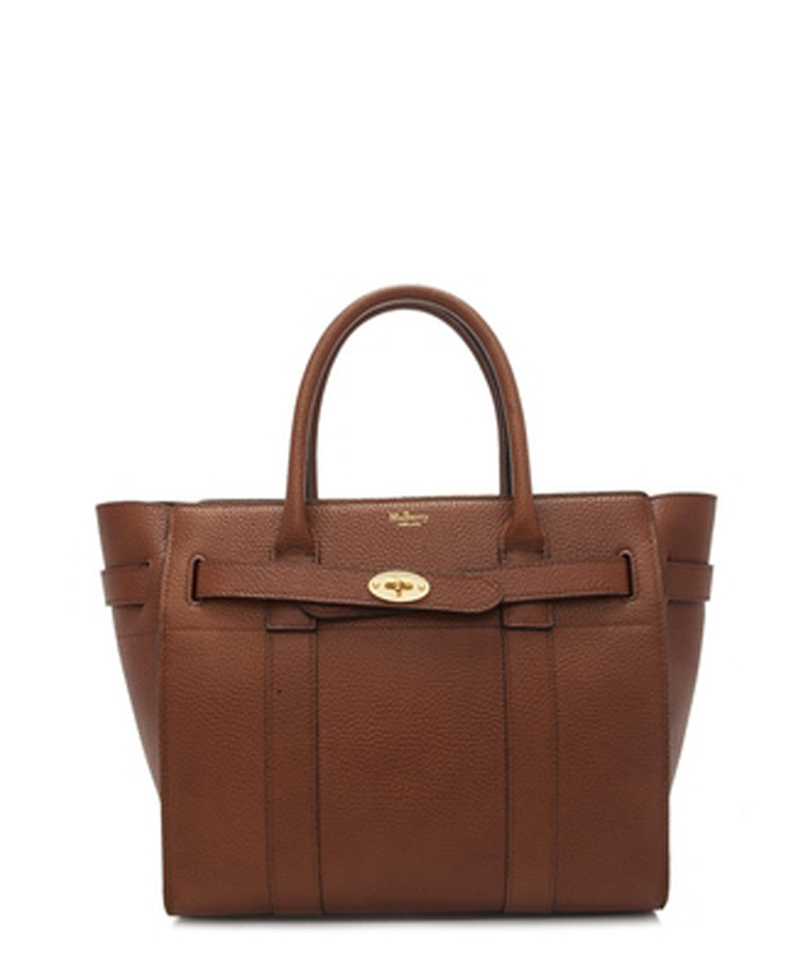 Small Zipped Bayswater oak leather tote Sale - MULBERRY