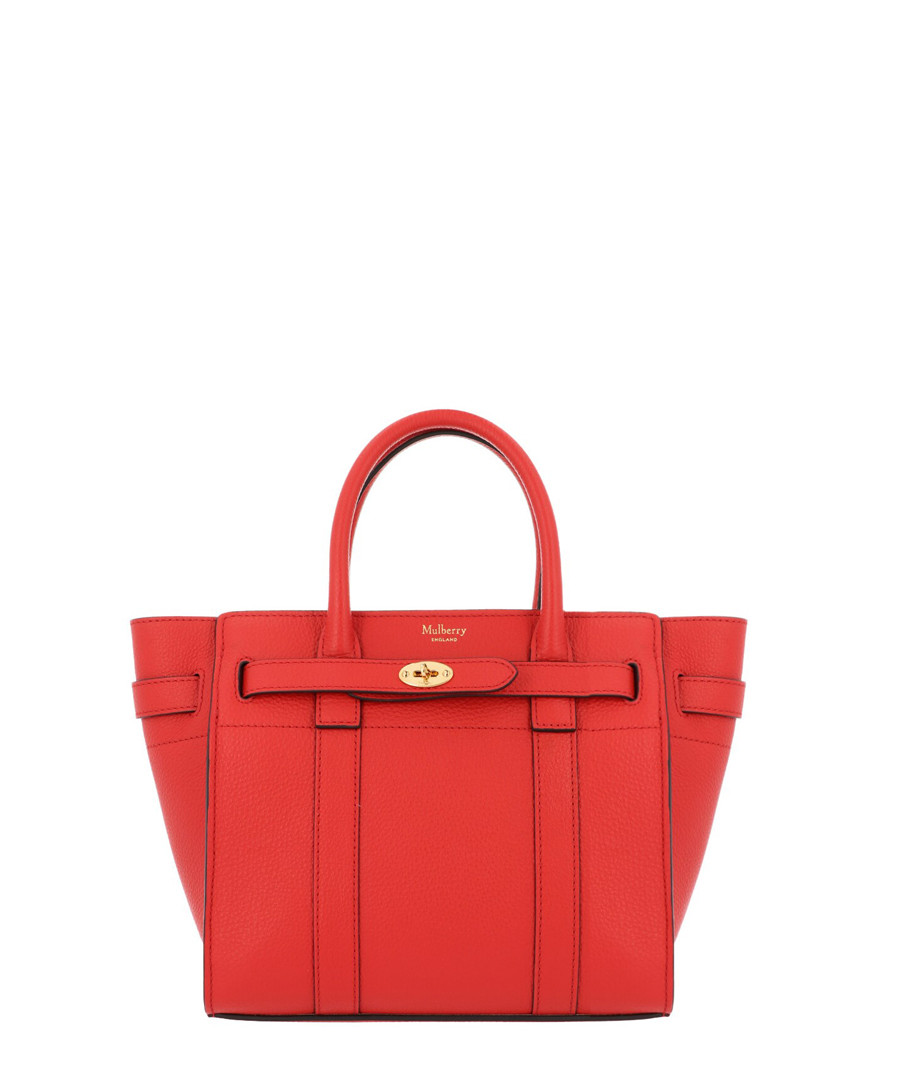 Mini Zipped Bayswater hibiscus tote Sale - mulberry