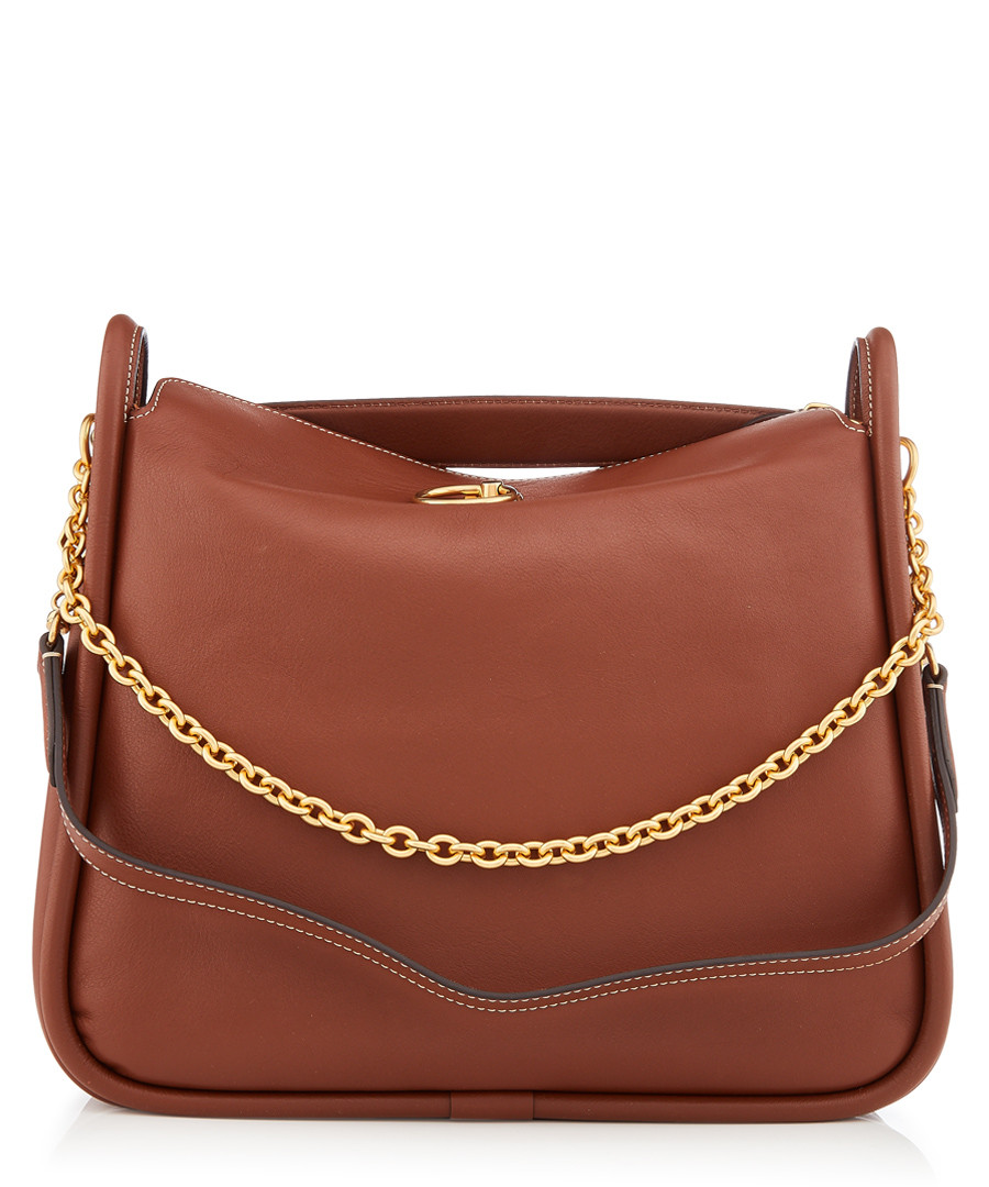 Leighton brown leather shoulder bag Sale - MULBERRY