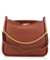 Leighton brown leather shoulder bag