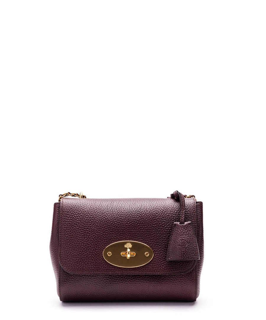 Lily oxblood grained leather crossbody Sale - MULBERRY