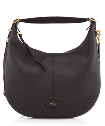 Small Selby black leather shoulder bag