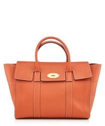 Bayswater Orange leather shopper