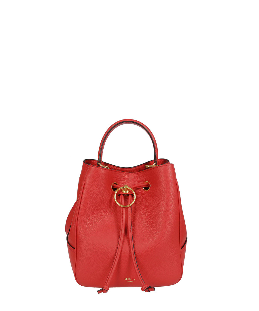 Hampstead Small red leather bucket bag Sale - MULBERRY