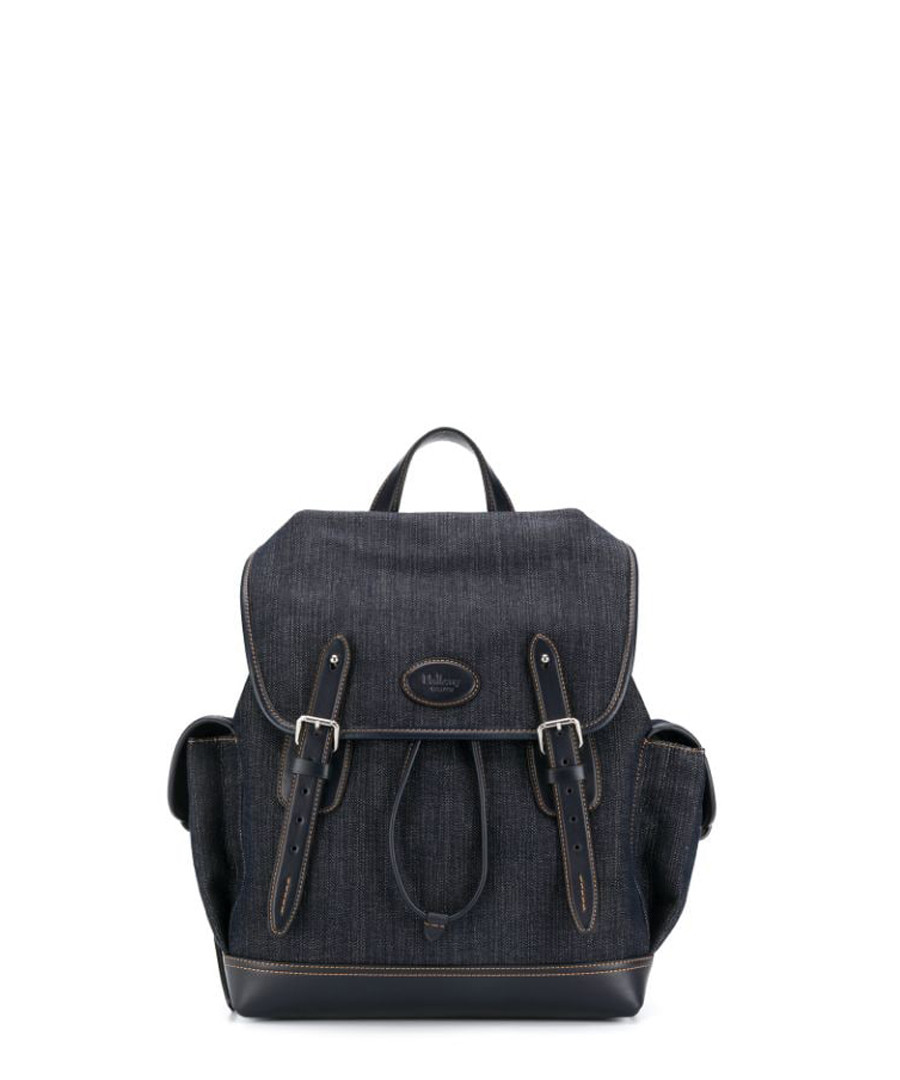 Heritage blue denim canvas backpack Sale - MULBERRY