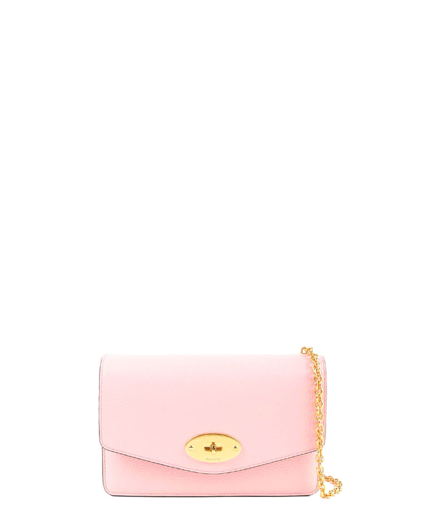 Small Darley pink leather crossbody Sale - mulberry