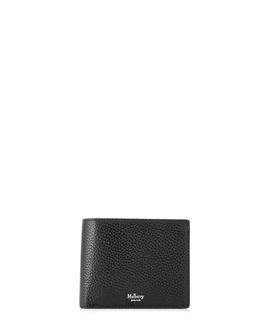 Black leather card & coin wallet Sale - mulberry