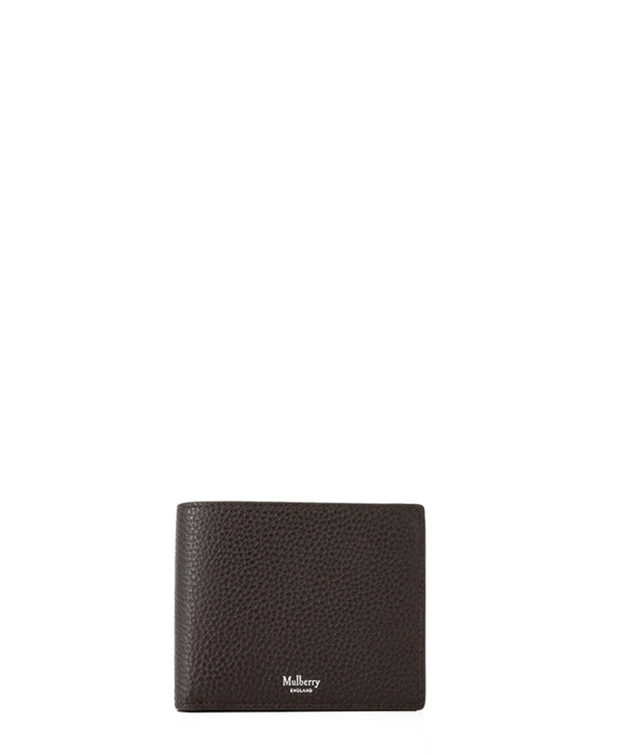 Chocolate leather card & coin wallet Sale - MULBERRY