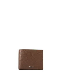 Oak leather card & coin wallet