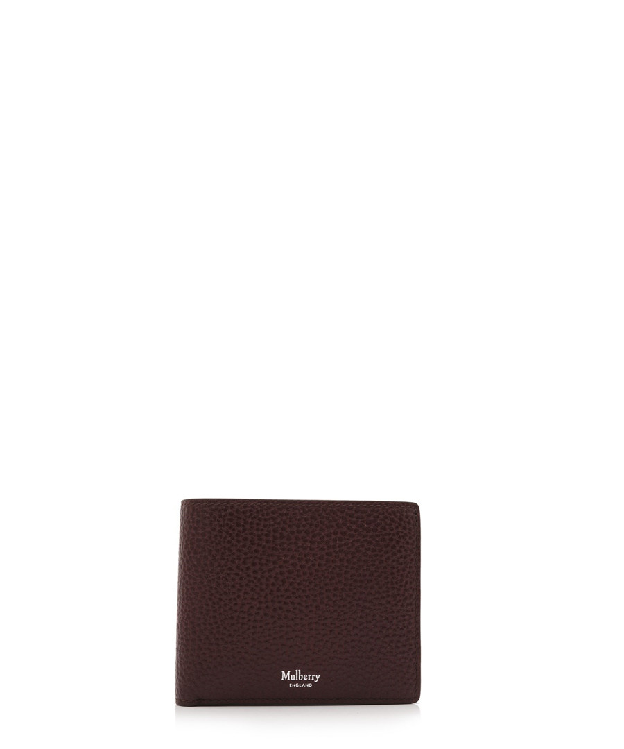 Oxblood leather card & coin wallet Sale - MULBERRY