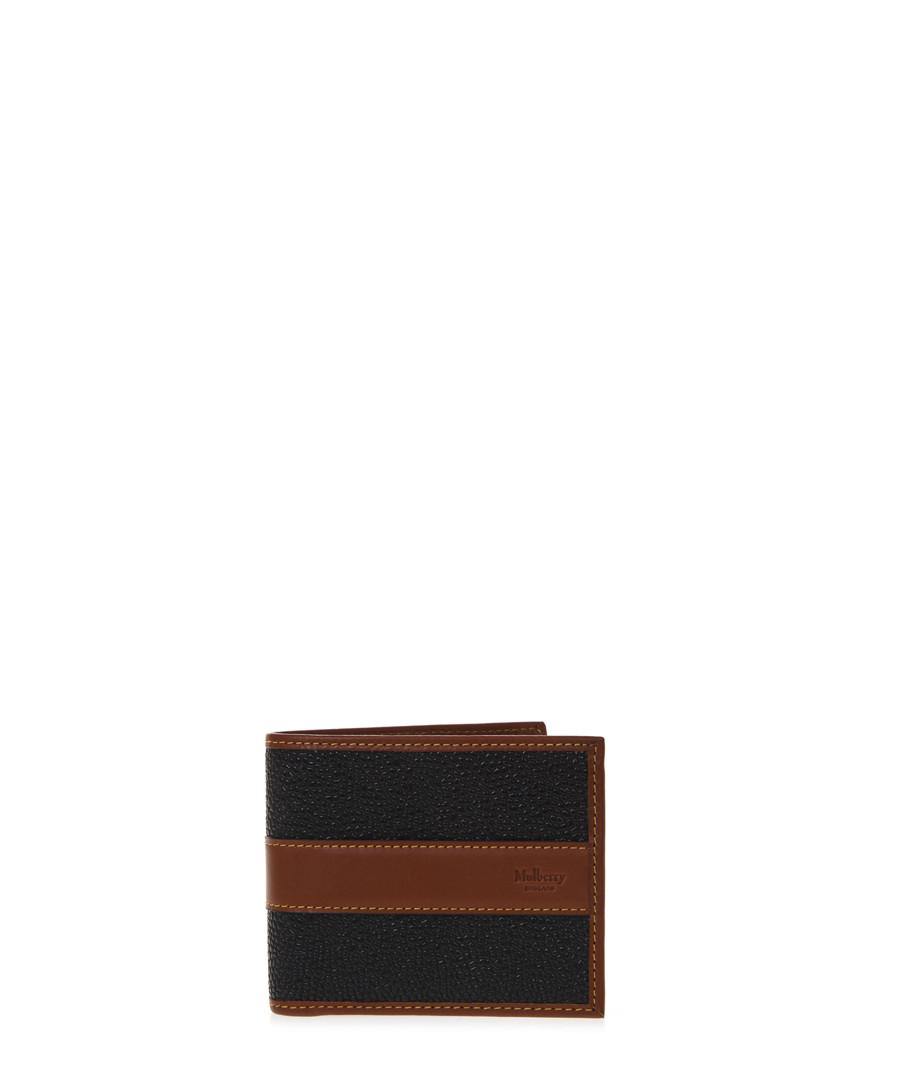 Black & cognac leather cardholder Sale - MULBERRY