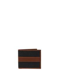 Black & cognac leather cardholder