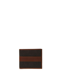 Mole & cognac leather cardholder