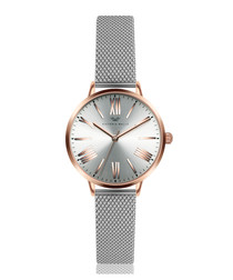 Rose gold-tone & silver-tone steel watch