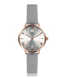 Rose gold-tone & silver-tone steel watch