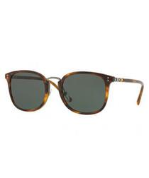 Havana D-frame sunglasses