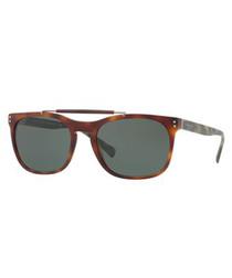 Havana top-bar D-frame sunglasses