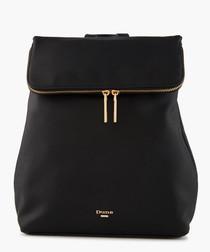 Dulcie Black zip-up backpack
