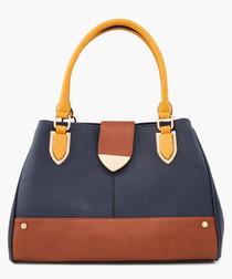 Darlow Tan navy & mustard grab bag