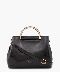 Dandelion Black moc-croc grab bag