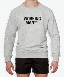 working man grey cotton blend jumper