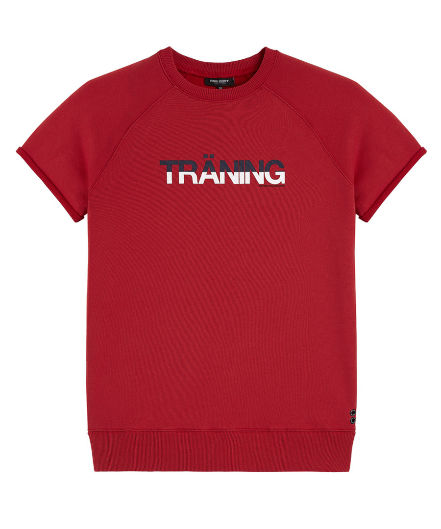 Traning red cotton blend T-shirt Sale - Ron Dorff