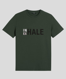 Exhale pine pure cotton T-shirt