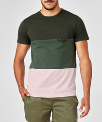 green pure cotton gradation T-shirt