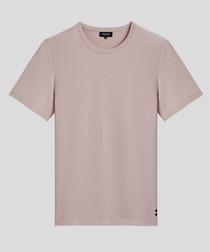 ash mauve pure cotton T-shirt