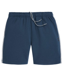 marine cotton blend jogger shorts