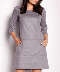 Trapezium grey dress