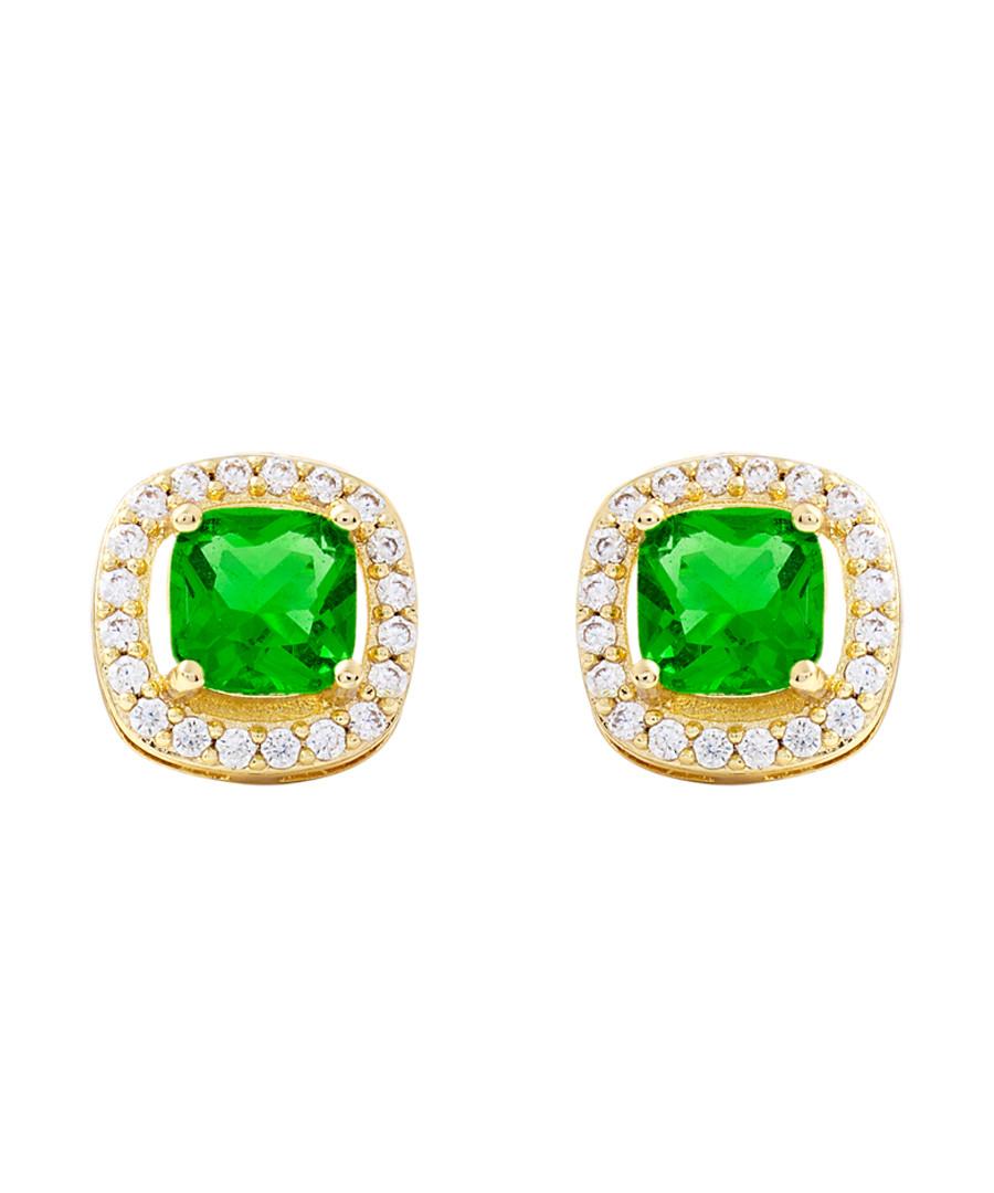 Juliet gold-plated lime earrings Sale - bertha