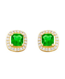 Juliet gold-plated lime earrings